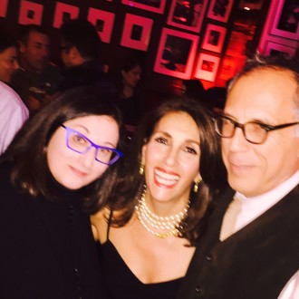 With Renee Rosnes & David Hajdu at Birdland