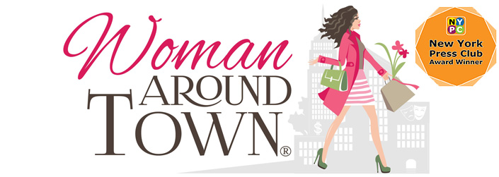 woman around town logo